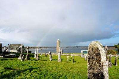 Rainbows over Clonmacnoise