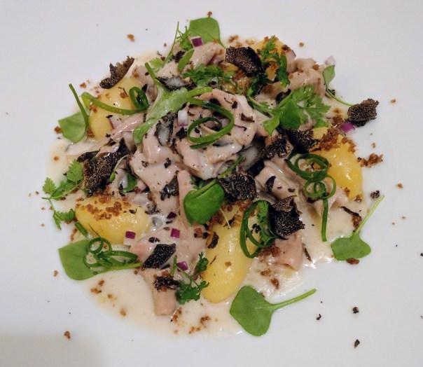 calf ruffle w/ potato & truffles