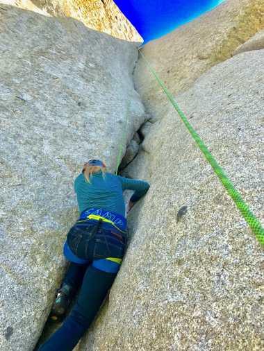 top rope climbing