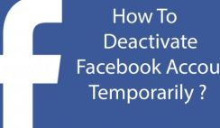 Deactivate Your Facebook Account