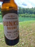 Beer with lunch along the river