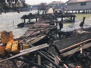 Just In: A Raging Fire Has Destroyed Keta Lagoon. 9