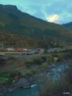 Piscachucho from across the Urubamba River.