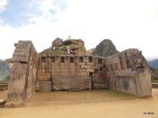 The Principal Temple at Machu Picchu; the wall settled during Inca times, according to our guidebook.