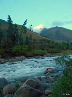 The Urubamba River and Mount Veronica.