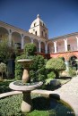 A courtyard inside the San Francisco Monastery.