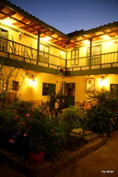 One of the courtyards at Amaru Hostal