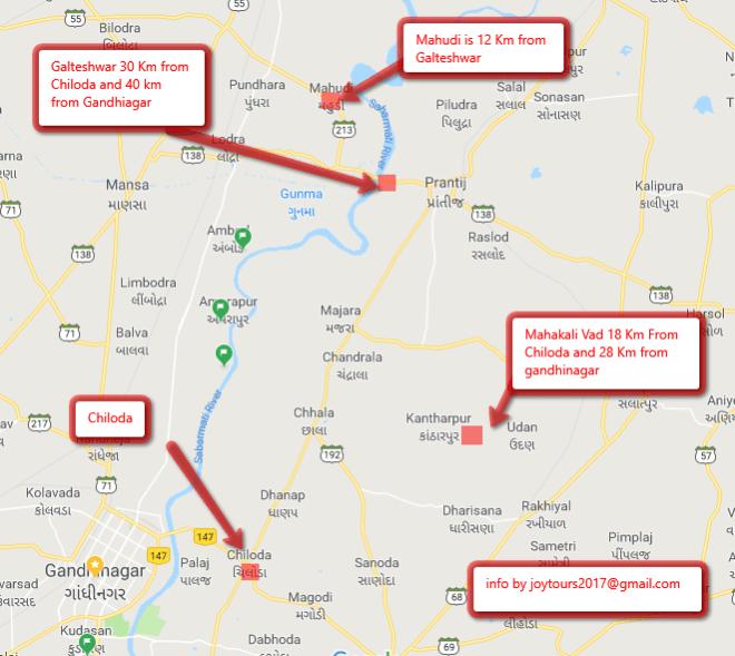 Picnic places on Gandhinagar-Pratij Route