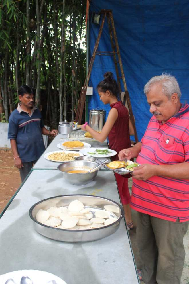 Lunch at Bakor camp site