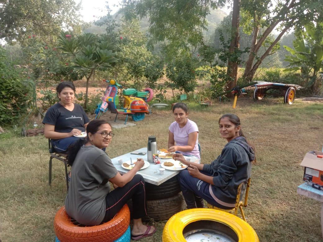 Mayur Rathod Campsite Breakfast area