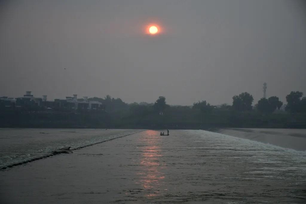Sunset at Sindhrot Checkdam