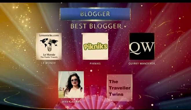 Nominated as Best Travel Blogger Gujarat Tourism 2020