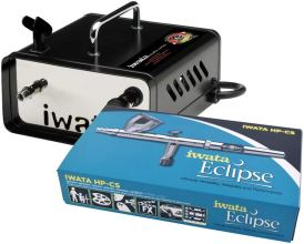 Iwata ECL 4500 Eclipse HP-CS airbrush with Ninja Jet Compressor photo