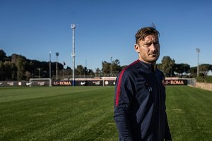 Francesco Totti, 40, at the team's training fields in Trigoria, Italy. Credit Nadia Shira Cohen for The New York Time
