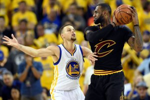 LeBron James, right, led the Cleveland Cavaliers to the N.B.A. championship over Stephen Curry's Golden State Warriors in the series decider in Oakland, Calif. Credit Bob Donnan/USA Today Sports, via Reuters