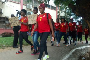 With promise unfulfilled Ghana's ladies national football team go on demonstration