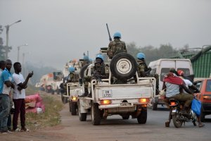 United Nations peacekeepers arrived Friday at Bouaké, Ivory Coast, where earlier in the day soldiers demanding more pay had closed roads into the city.Credit Sia Kambou/Agence France-Presse — Getty Images