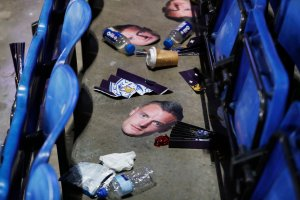 Masks of Jamie Vardy of Leicester City after the club's match against Everton on Dec. 26. Credit Carl Recine/Reuters