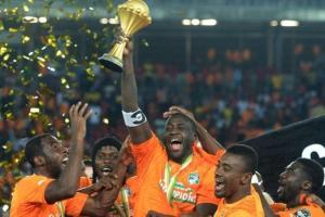 Ivory Coast with the trophy in 2015