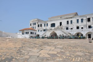 The ocean-facing courtyard of Cape Coast Slave Castle. Photo: Mary Frances Schjonberg/Episcopal News Service