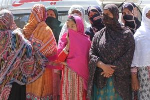 Relatives of victims looked on as the bodies were recovered