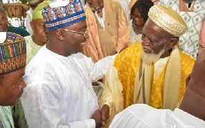 Vice President Dr. Bawumia with the Chief Imam of Ghana Sheikh Dr Osmanu Nuhu Sharabutu