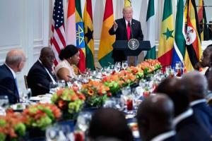 President Trump addressing African leaders