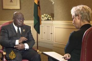 President Akufo-Addo in a sit-down interview with Al Jazeera TV