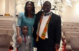 Emmanuel Akrong, his wife Elizabeth and their son Emmanuel Jr
