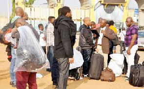File photo of some deportees
