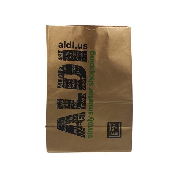Grocery bag from Aldi.