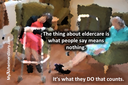 Eldercare it's what they DO that counts