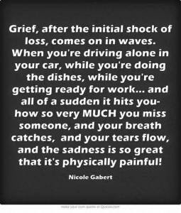 The shockwaves of grief
