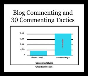 Blog Commenting and 30 Commenting Tactics