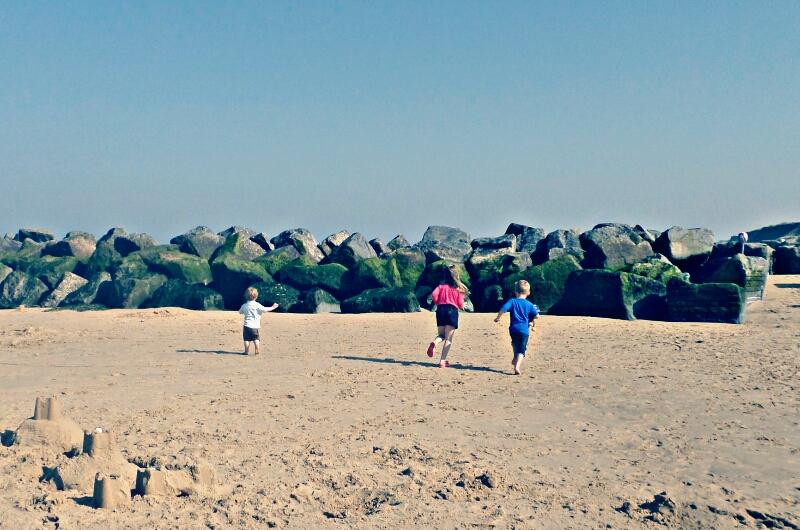 Beach running
