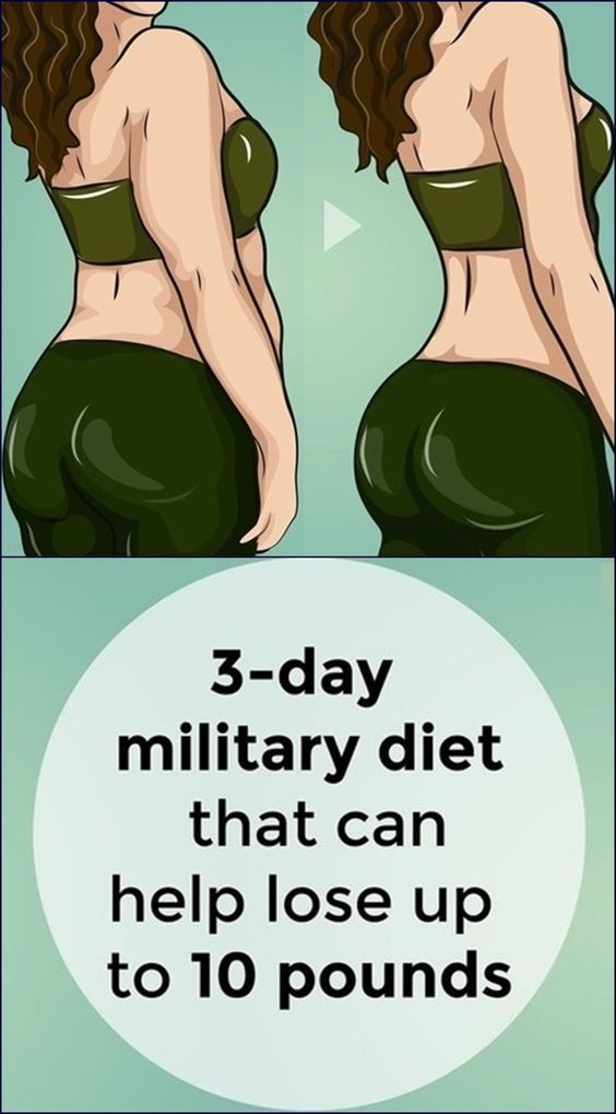 3-day military diet that can help lose up to 10 pounds