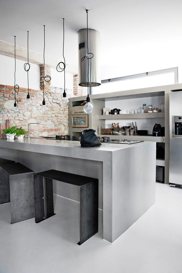 Concrete Kitchen Designs That Bring Contemporary And Sleek Note