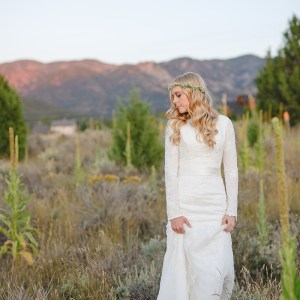 Bride Chelsea in Affordable custom-made wedding dress