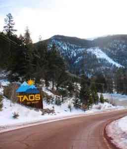 Entering Taos Ski Valley