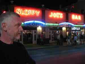 Malcolm Logan at Sloppy Joes Bar in Key West