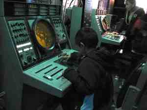 Radar station aboard the USS MIdway in San Diego