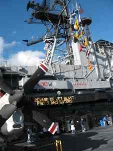 Beware of Jet Blast on USS MIdway
