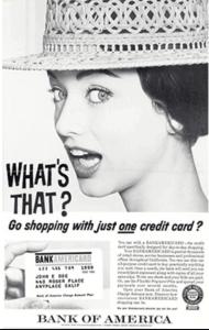 BankAmericard ad in the 1960's