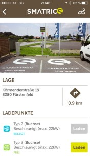 Smatrics-App zeigt Ladestatus