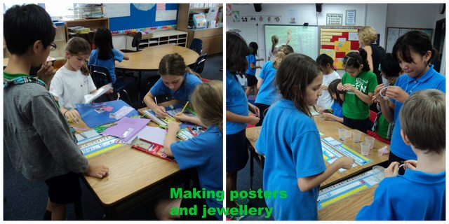 mini-Making posters and jewellery Collage