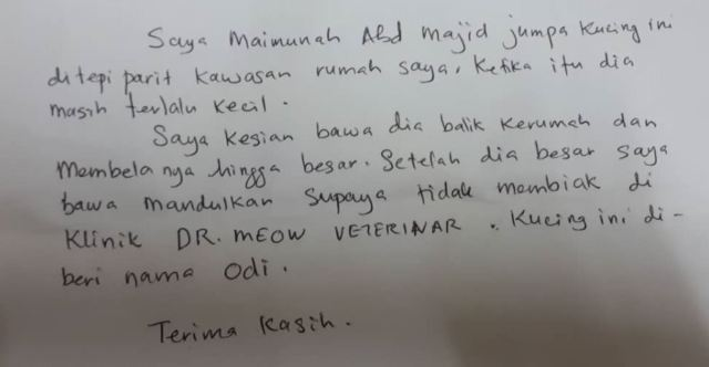 Neutering Aid For 1 Cat In Shah Alam (Maimunah Bt Abd Majid's)