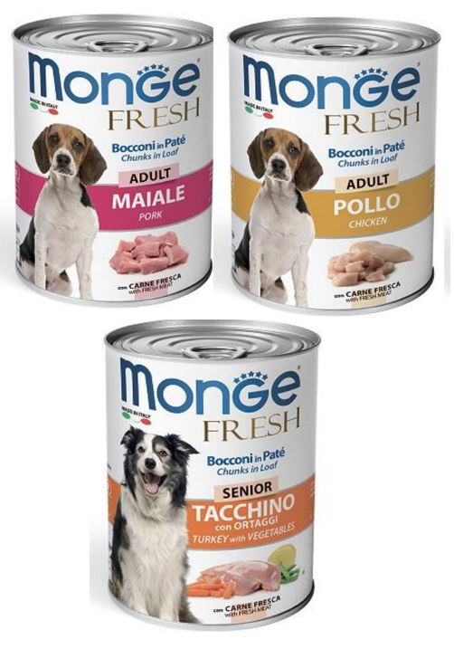 New Packing (400g) For Monge Canned Food For Dogs!