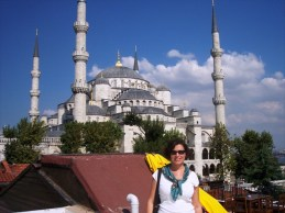 Me in front of the Blue Mosque, Istanbul, Sept 2006