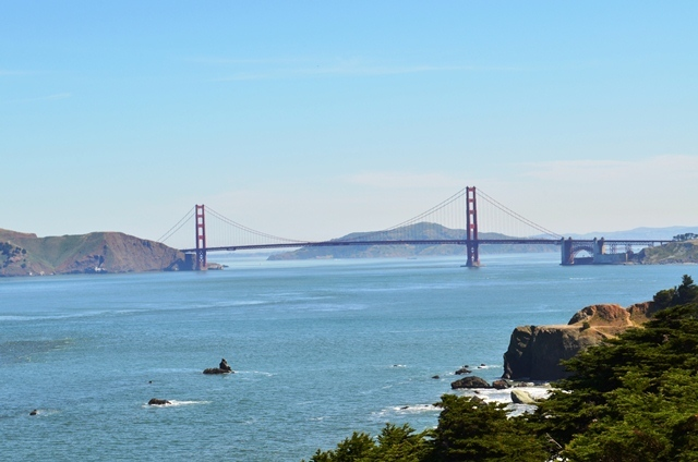 19. Overlook / View Point ကေန Golden Gate Bridge ကို အေဝးၾကည္႕ ။