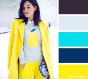 Bright yellow and grey